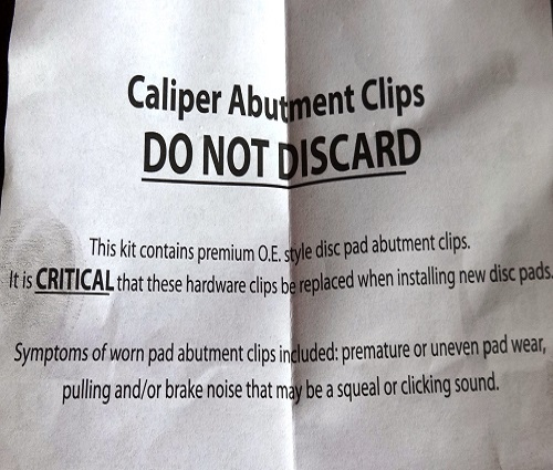 caliper hardware warning